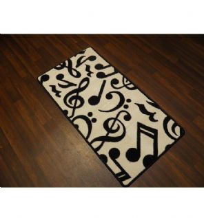 Approx 4x2 60cm x 110cm Novelty Nice Music Mats Non Slip Washable /White/Black